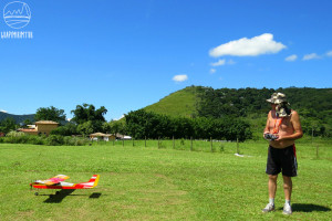 A pista de aeromodelismo de Guapimirim